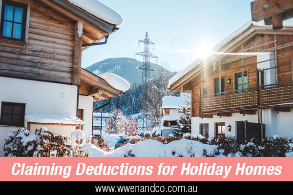 claiming tax deductions for holiday homes - ATO warnings