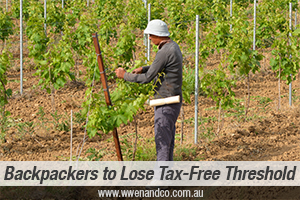Backpacker Workers To Start Paying Taxes?