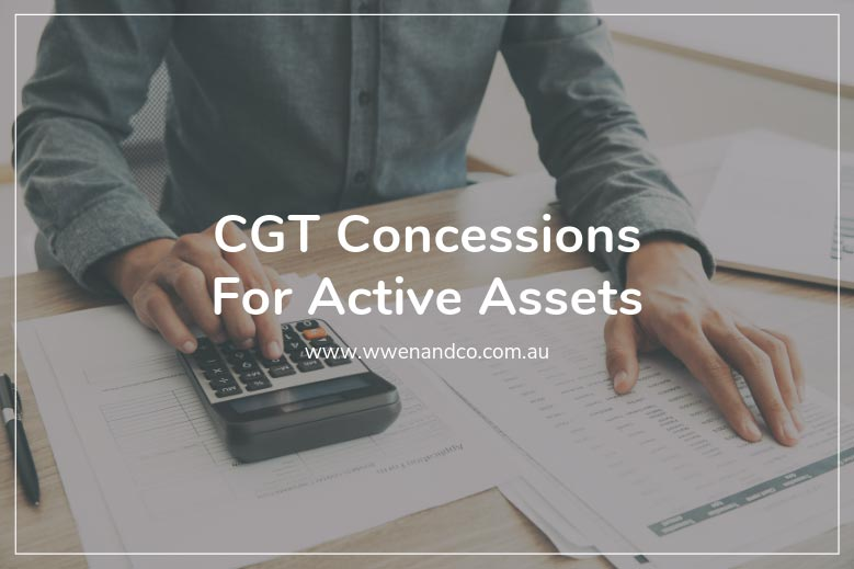 CGT Concessions For Active Assets