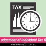 Early Lodgement Of Tax Return