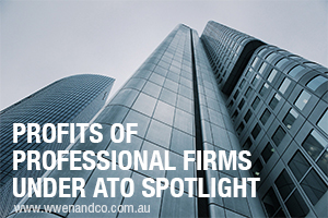Profits Of Professional Firms Under Scrutiny OF ATO