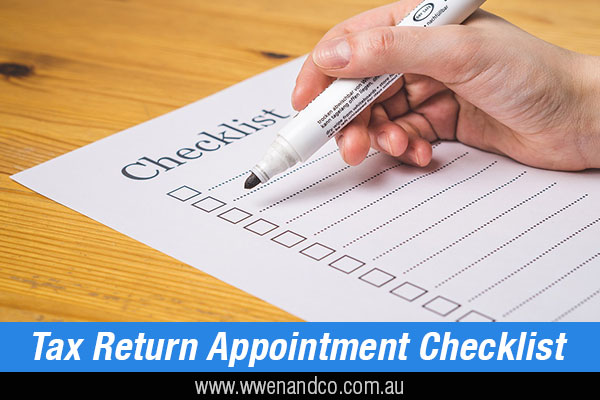 tax return appointment checklist