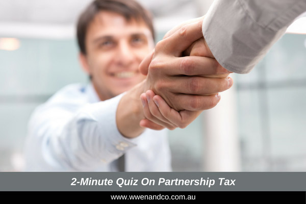 understand partnership tax - 2 minute quiz image