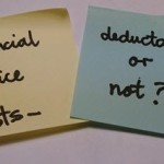 Are any financial advice costs deductible - image