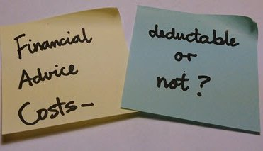 What Financial Advice Costs Are Deductible?