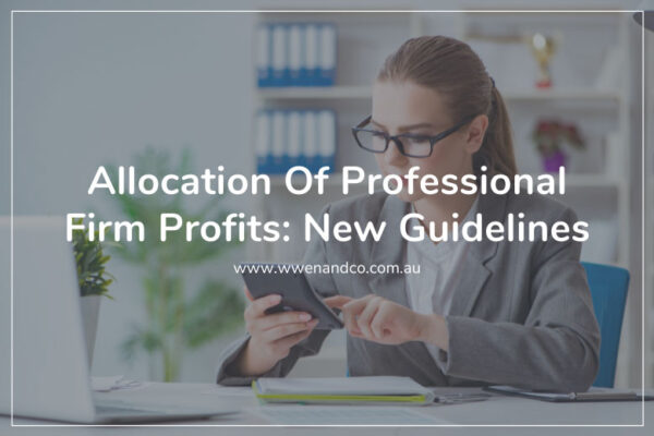 New guidelines for allocation of profits within professional firms