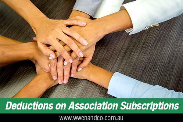 are your association subscriptions tax deductible?