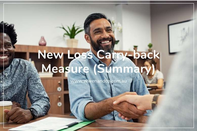 New Loss Carry-back Measure announced by ATO