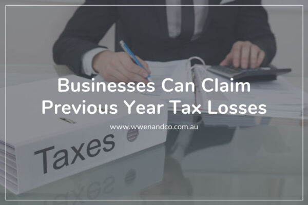 Businesses can claim previous year tax losses