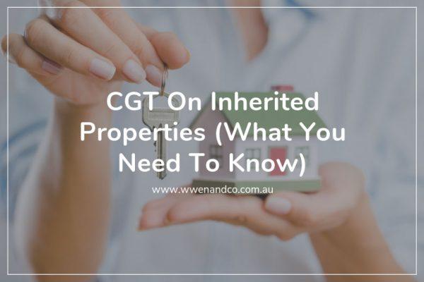 CGT on inherited properties