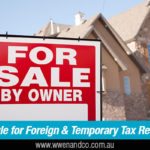 Foreign Residents CGT Main Residence Exemption