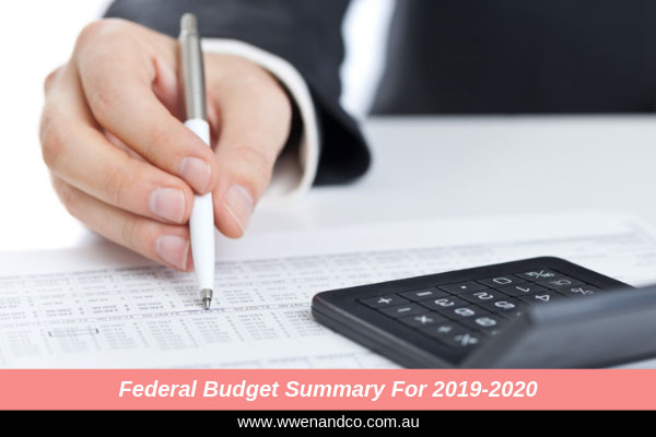 Federal budget summary for 2019-2020