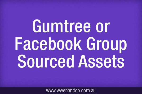 proof of purchase when you buy business related items on community sites like Gumtree and Facebook Groups