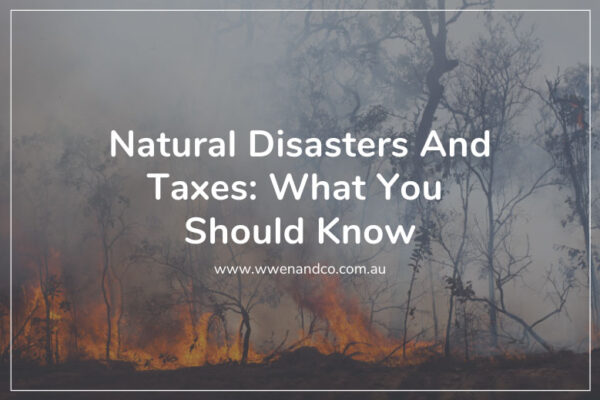 The government provides tax relief assistance to those affected by natural disaster