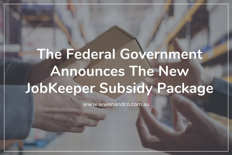 The Federal Government announces the new jobkeeper wage subsidy package