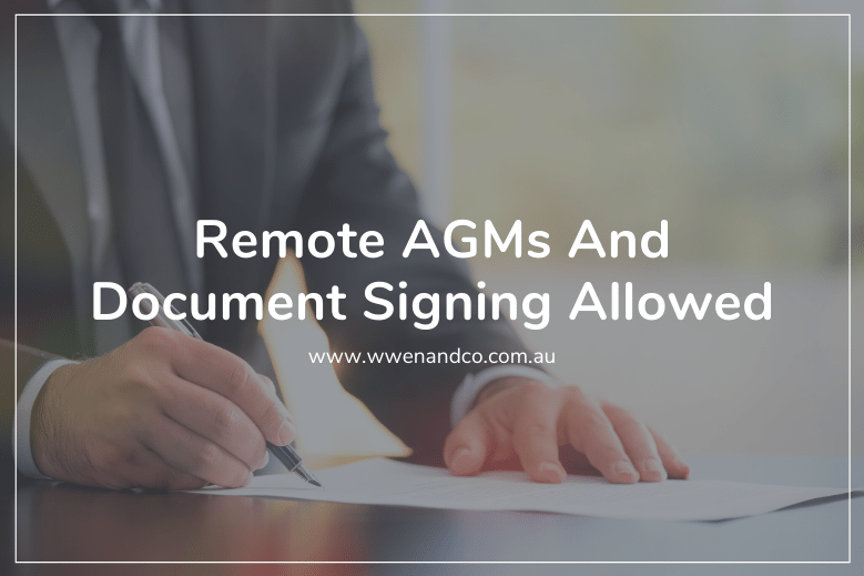 Companies will be allowed to sign documents and hold annual general meetings in electronic format.