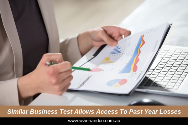 The new test allows businesses to access the prior year losses