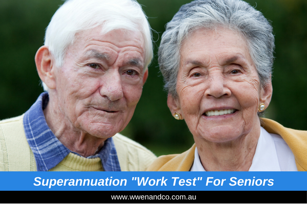 Superannuation work test for seniors - image