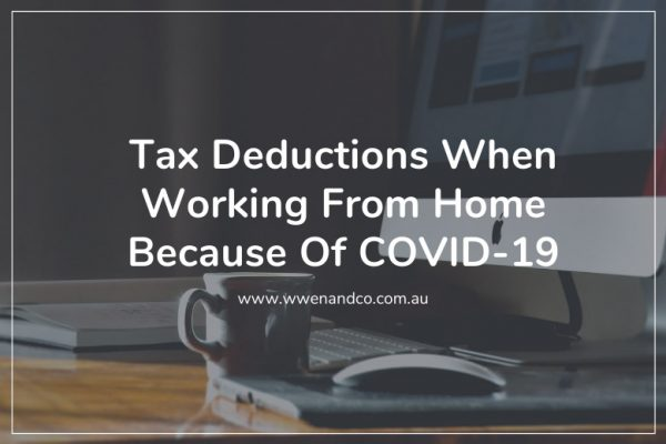 Claiming tax deductions for employees working from home because of covid-19