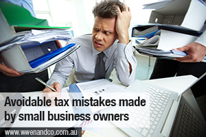Top 5 Avoidable Tax Mistakes Made By Small Business Owners