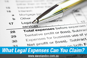 What legal expenses can I claim as tax deductions - image